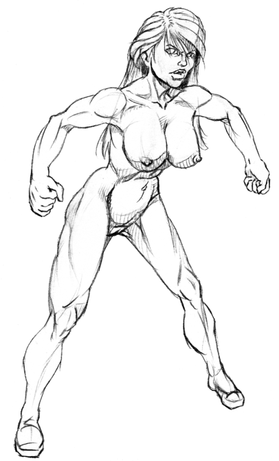 Supergirl: Fighting Stance, WIP (NSFW)